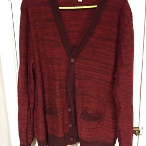 Merona 2xl red cardigan with pockets